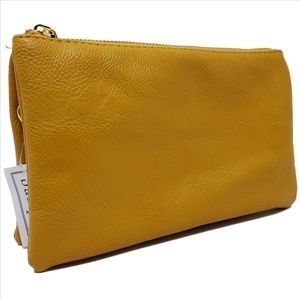BARQUE Wristlet Clutch New with Tag Mustard Color
